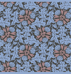 blowball floral seamless pattern vector image