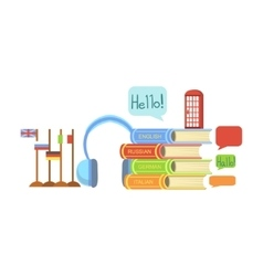 Foreign Languages Class Set Of Objects vector image