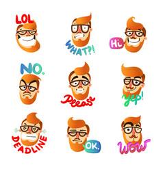 man emotions set vector image vector image
