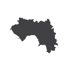 Republic of Guinea map silhouette vector image vector image