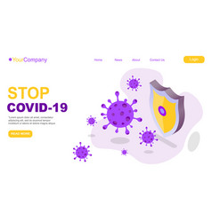2019-ncov virus strain with stop sign quarantine vector
