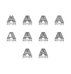 A letter logo lettermark set collection typeface vector