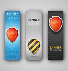 A set modern banners vector
