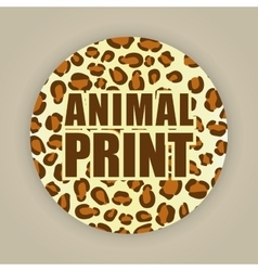 Animal print pattern image vector