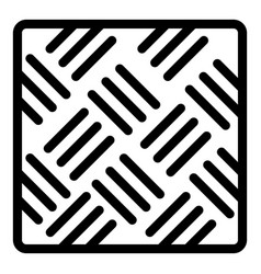 Asphalt paving icon outline style vector