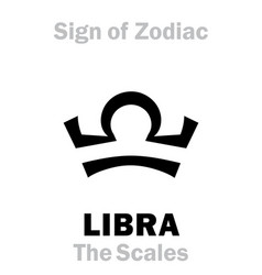 Astrology sign zodiac libra scales balance vector