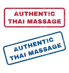 Authentic Thai Massage Rubber Stamps vector