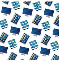 background computer case database server pattern vector image