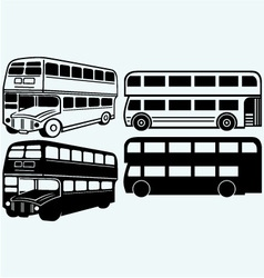 British double-decker bus vector