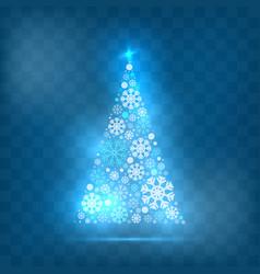 christmas tree light style vector image