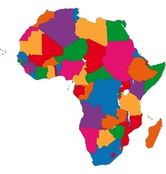 Colorful Africa map vector image