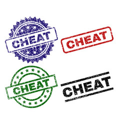 Damaged textured cheat seal stamps vector