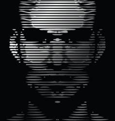 Face gridline vector