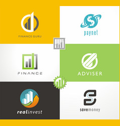 finance logo investment adviser vector image