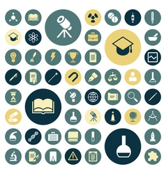 Flat design icons for education science and medica vector
