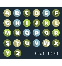 Flat letters of the alphabet vector image