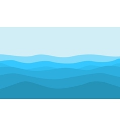 flat of hill on blue background landscape vector image
