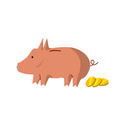 flat piggy bank design vector image