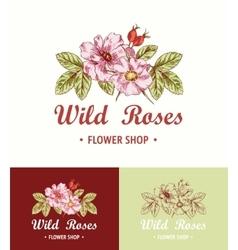 Flower Logo Shop vector