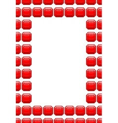 Frame of rubies Red box with space for text vector