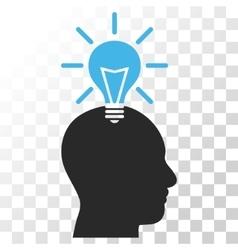 Genius Bulb Icon vector