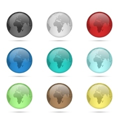 Glass globe set vector