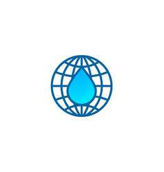 Globe water logo icon design vector
