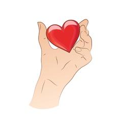 Hand holding heart vector