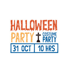 Happy halloween party invitation font message vector