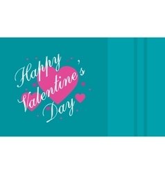 Happy Valentine Day on green backgrounds vector