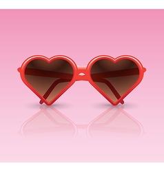 Heart sunglasses vector