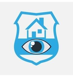 Home security eye surveillance vector