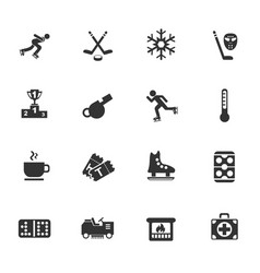 Ice rink icon set vector