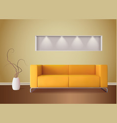 interior realistic image vector image