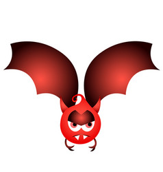 Isolated halloween bat vector