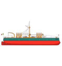 Italian battleship italy combat naval artillery vector