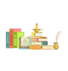 Literature Class Set Of Objects vector image vector image