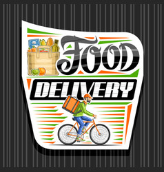 logo for food delivery vector image