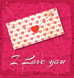 love letter with little hearts background vector image
