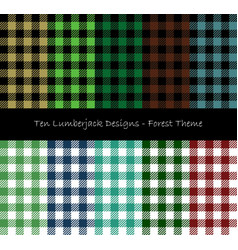 Lumberjack seamless pattern collection vector