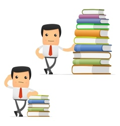 manager with books vector image