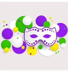 mardi gras party poster design template poster vector image