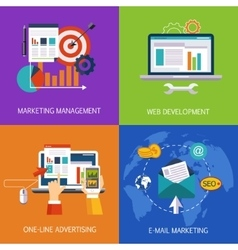 Marketing Technologies Set Concept Art vector image
