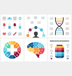 Medicine infographic template for human vector