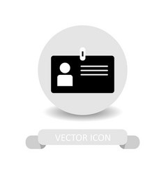 member card icon vector image