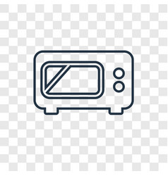 microwave concept linear icon isolated on vector image