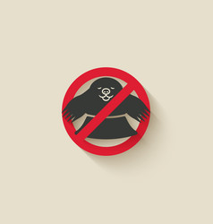 mole in hole animal pest icon stop sign vector image