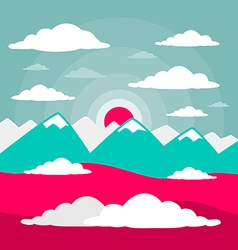 Mountains Flat Design vector