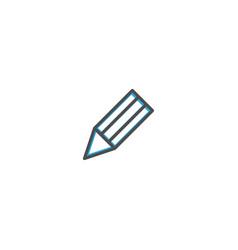 pencil icon design stationery icon design vector image
