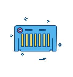piano icon design vector image